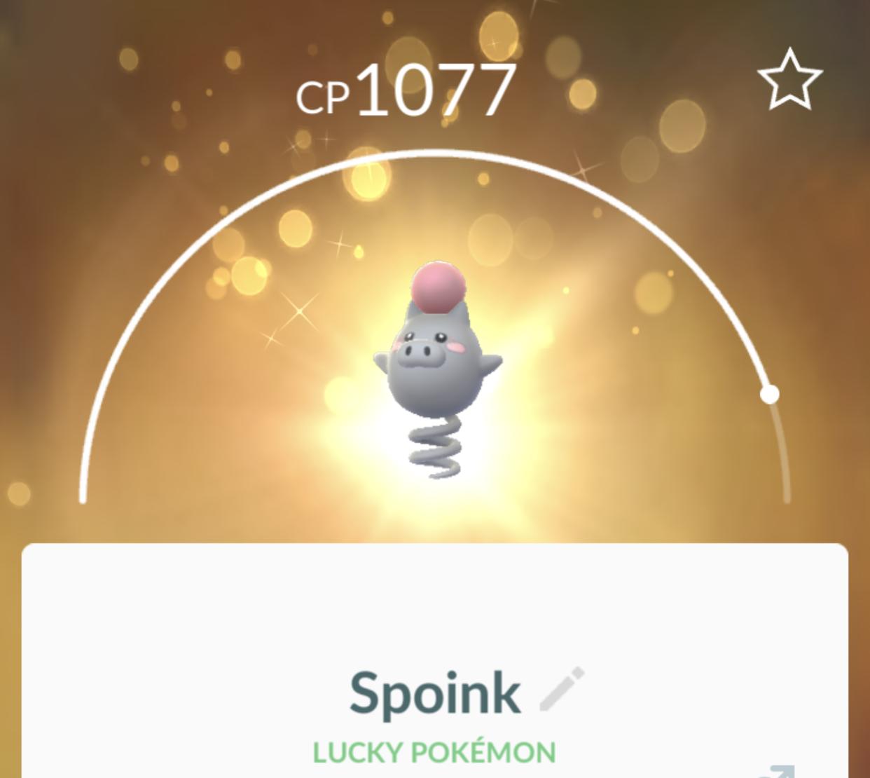 shiny spoink pokemon go