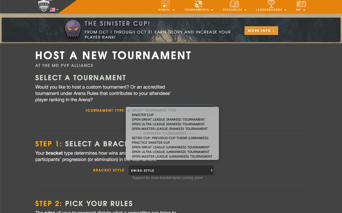 Silph Arena How-To: Tournament Organizers