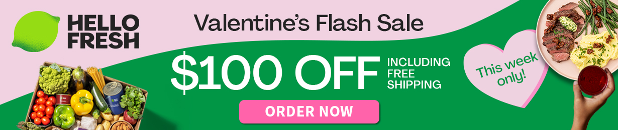 HelloFresh Canada Valentines Day Deal!