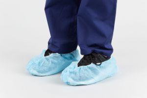 Disposable Shoe Cover 18x40cm 35gsm Blue