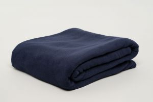 Fibresmart Thermalux Blankets 100% Polyester Fleece Single Navy