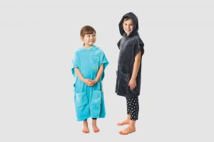 Microfibre Kids Hooded Poncho To Fit 5-10 Years