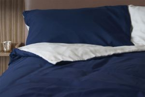 Euro Duvet Cover Set Navy/Taupe