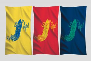Signature Velour Beach Towel Printed