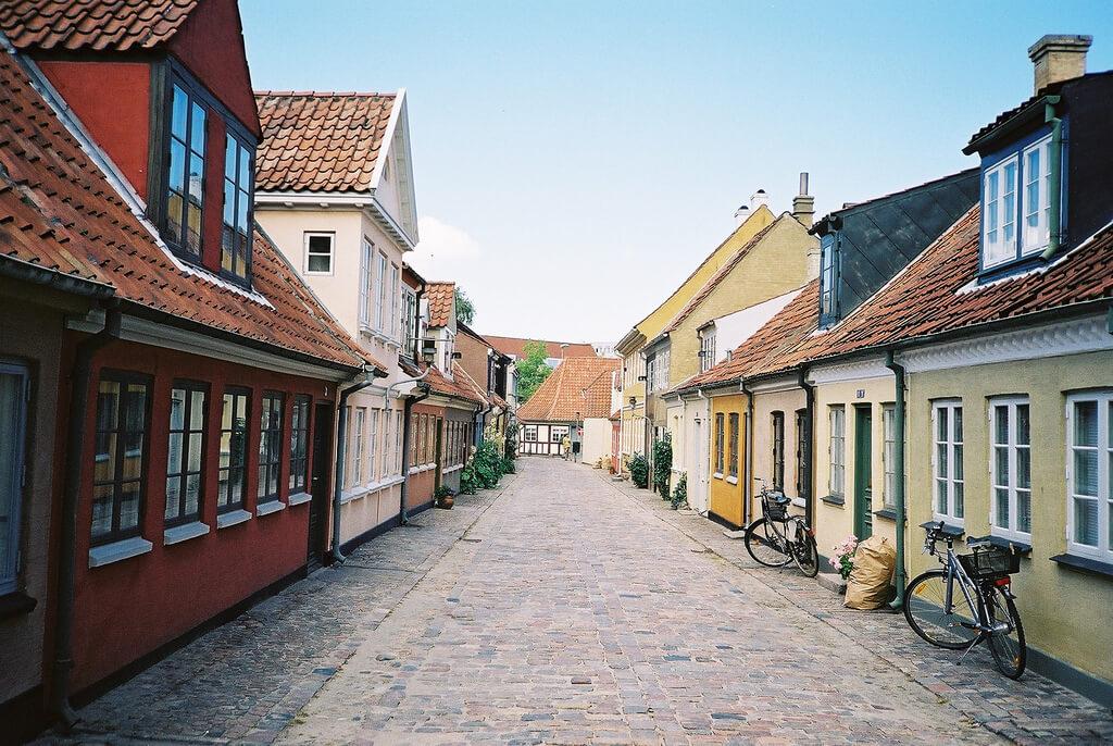 De små gader i Odense