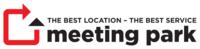 Show business meeting park white logo