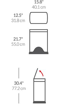 30L rectangular step can