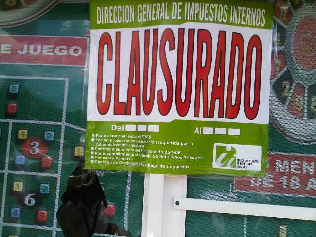 Impuestos Internos clausura 303 bancas de loterías y deportivas