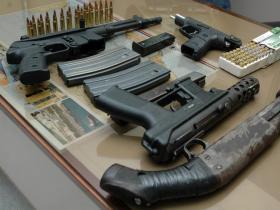 Incautan 518 armas y 34 toneladas droga en Brasil