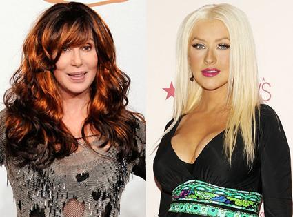 Cher y Christina Aguilera,dos divas que conviven pacíficamente en
