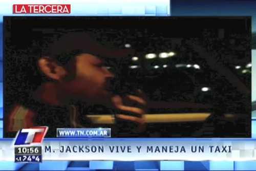 Imitador de Michael Jackson en las calles de Brasil y en taxi