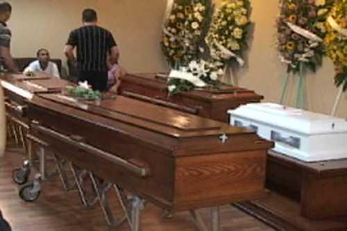 Sepultarán esta tarde a los 4 miembros de una familia muertos en accidente en Santiago