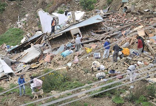 Más de 800 familias pierden sus viviendas por desplome de 250 casas en Bolivia