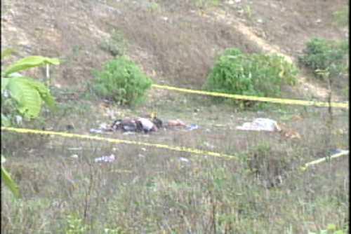 Hallan dos cadáveres calcinados en solar baldío en Las Américas