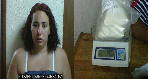 DNCD impide que una española retorne a su país con casi dos kilos de droga