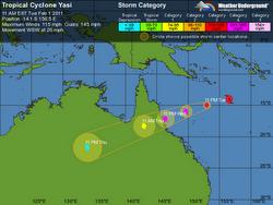 """Un ciclón de """"proporciones catastróficas"""" se aproxima al este de Australia"""