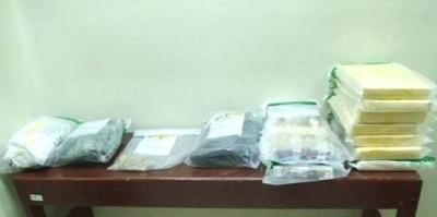Decomisan 28 paquetes de cocaína procedentes de Colombia