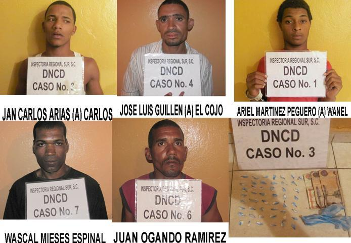 DNCD atrapa con drogas a microtraficantes de Haina y Nigua