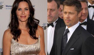 Por qué Brad Pitt y Courteney Cox fueron a cenar juntos?