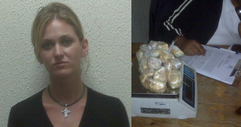 Detenida por DNCD ciudadana rusa llevaría droga a Moscú saliendo por Punta Cana