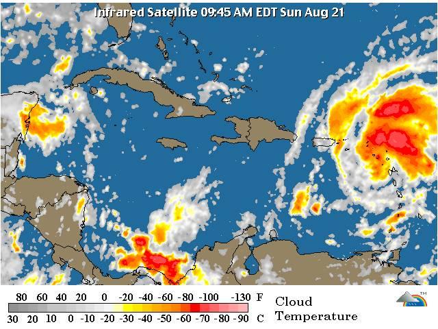 Aguaceros por tormenta Irene comenzarán a sentirse este domingo RD