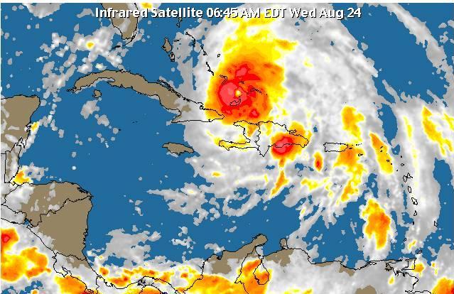 Remanentes del huracán Irene continúan incidiendo sobre el territorio nacional