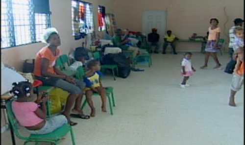Damnificados en Nigua tras paso de Irene