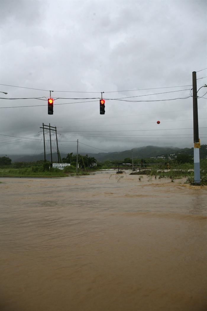 Imágenes de las inundaciones dejadas en Puerto Rico por