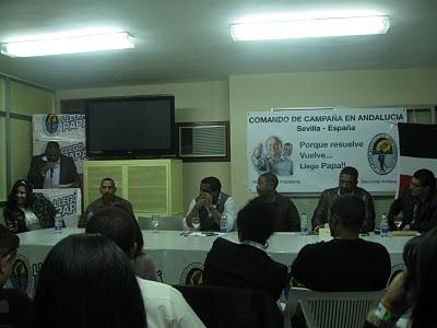 PRD juramenta comando de campaña en Andalucía, España