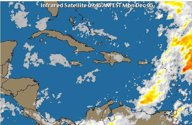 Temperaturas agradables para este martes; vaguada en el Atlántico sigue afectando el país