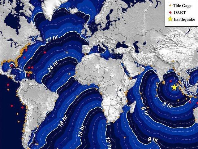 Anulan la dos alertas de tsunami en todo el Océano Índico