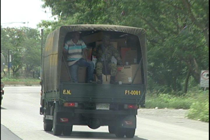 Sancionan capitán del EN transportaba electrodomésticos a repartir por PLD