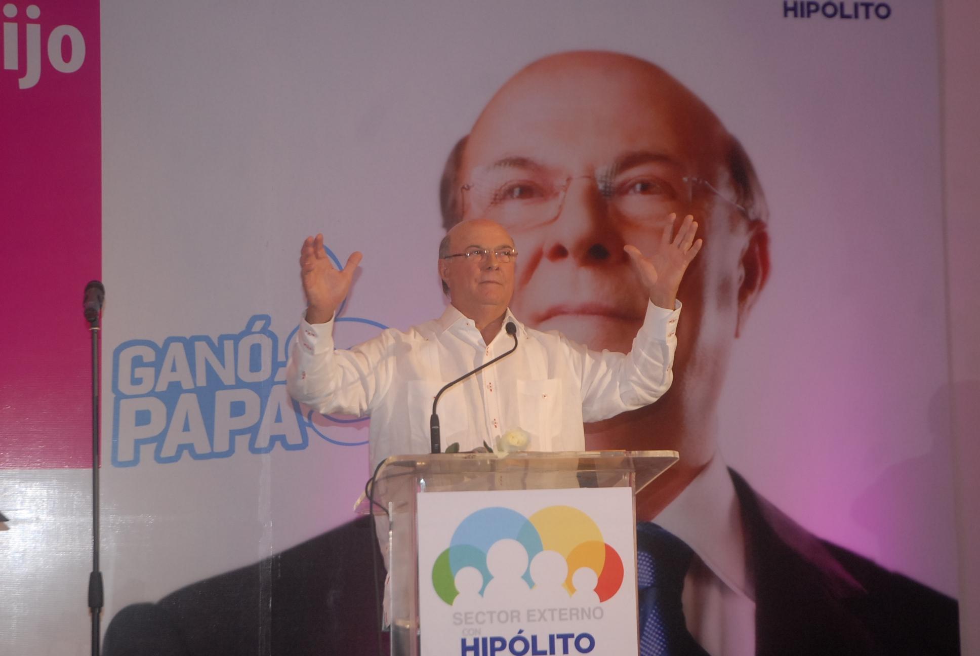 Hipólito Mejía  defiende  moral  de PC y  pide a sus contrarios  no jugar con la Democracia Dominicana