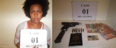 DNCD apresa mujer acusada de vender drogas y le ocupa pistola