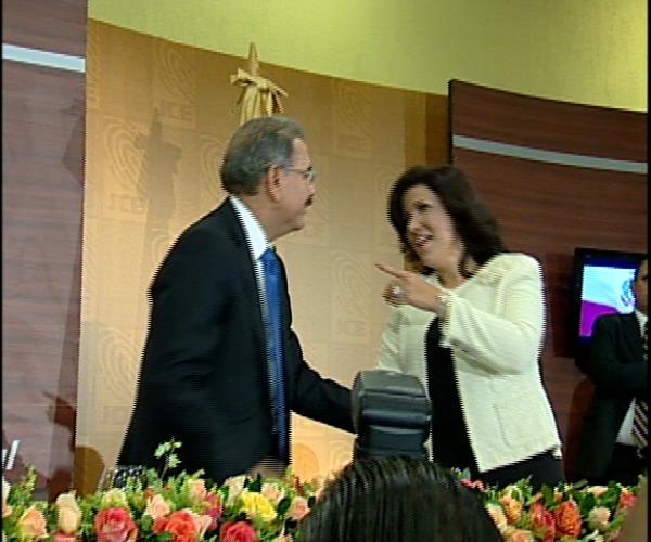Presidente Fernández recibe en Palacio a Danilo Medina y Margarita Cedeño