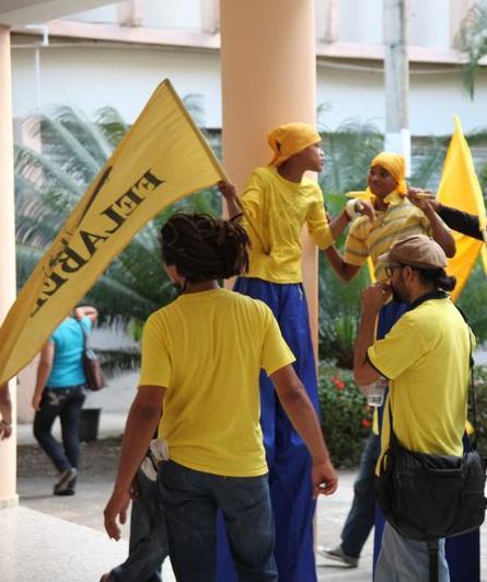 Dirigentes estudiantiles UASD realizan protesta por aumento Curso de Verano