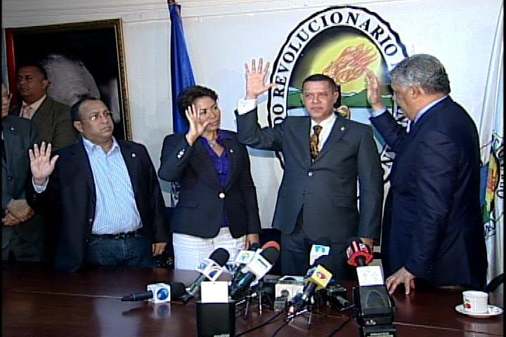 MVM presenta a Ruddy González como vocero PRD en CD; el representante de Hipólito es Eugenio Cedeño