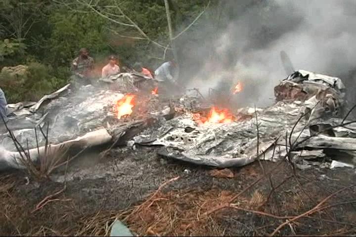 DNCD investigaba la avioneta estrellada en Constanza