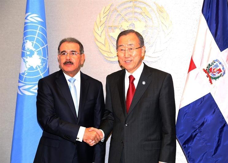 Secretario general de la ONU se reúne con Medina y lo felicita por su elección