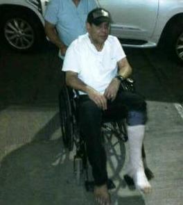 Fernando Villalona se fractura tobillo izquierdo y está inactivo
