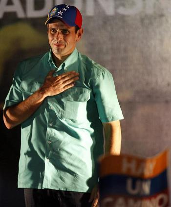 Capriles le advierte a Chávez que así como el pueblo premia, también castiga
