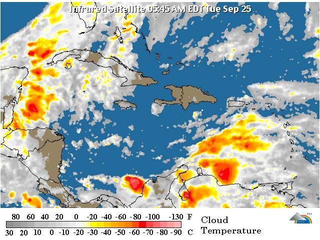 Sistema de alta presión y viento del Este/Sureste podrían provocar lluvias en el país, dice la Onamet