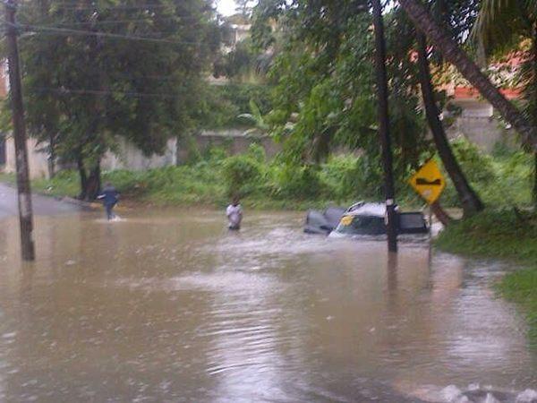 Twitteros y seguidores de Noticias SIN envían fotos sobre efectos de huracán Sandy en RD