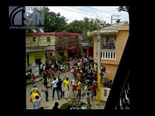 Balacera interrumpe fiesta de Gagá en Haina