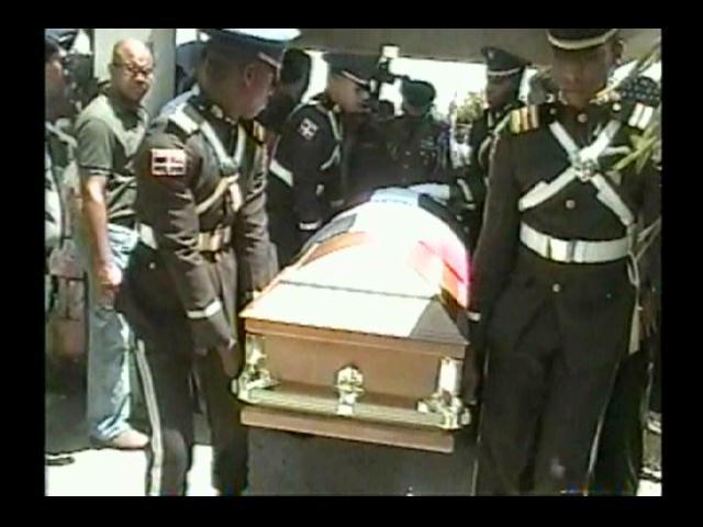 Sepultan en Castillo a coronel asesinado en la UASD