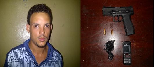 """Atrapan supuesto """"evangélico"""" con droga y pistola de ex policía"""