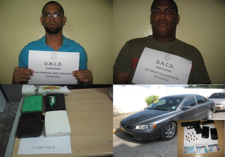 G-2 detiene presunto agente PN y civil con 4 paquetes de cocaína