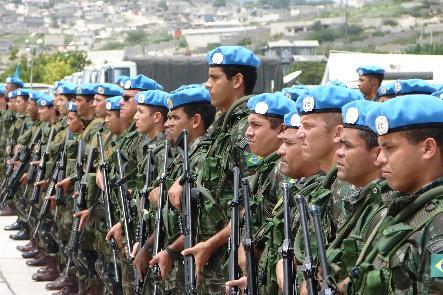 El Parlamento boliviano aprueba el viaje de 205 cascos azules a Haití