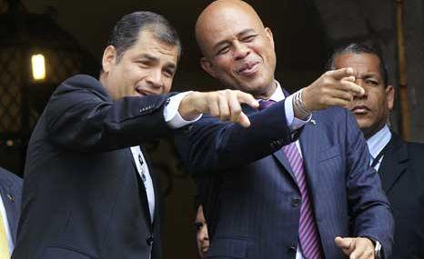Presidentes de Haití y Ecuador pasan revista a relaciones bilaterales