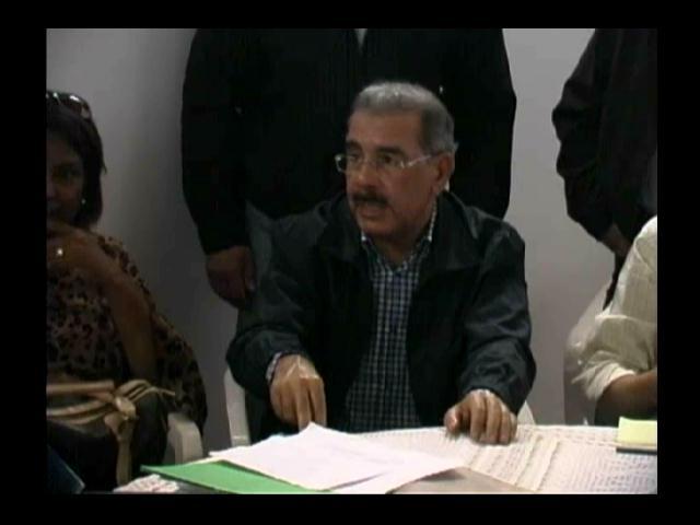Presidente Medina visita sorpresa en Dajabón